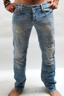 STAR JEANS HELLER LOW STRAIGHT BLUE MEN $160 BNWT 8718201319365