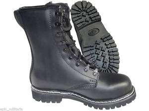 German Army Paratrooper Black Leather Boots   ALL SIZES