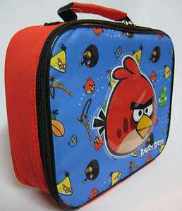 Red ANGRY BIRDS Insulated Lunch Bags Box Pails Boys Girls Case Gifts