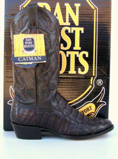 Dan Post Mens Tobac Pieced Caiman Gator Cowboy Boots
