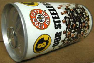 IRON CITY BEER Can 1981 PITTSBURGH STEELERS Football **