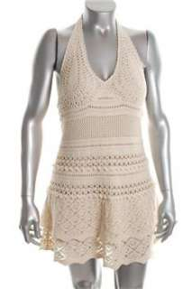 FAMOUS CATALOG Moda White Casual Dress Crochet Sale M