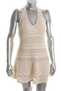 FAMOUS CATALOG Moda White Casual Dress Crochet Sale M |