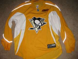 PITTSBURGH PENGUINS NHL GAME USED PRACTICE JERSEY REEBOK RARE*****