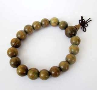 Tibetan Buddhist Green Sandalwood Beads Prayer Wrist Mala