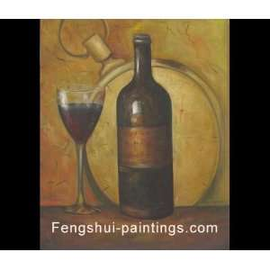 Wine Painting, Still Life Paintings, Oil Painting, Canvas Art
