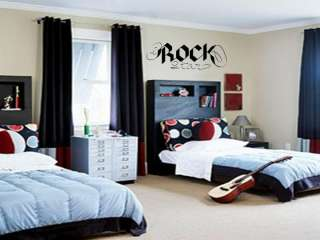 ROCK STAR Wall Decal Vinyl Boys Kids Garage Band Room