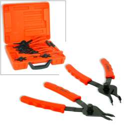 11pc SNAP RING PLIERS USE ON INTERNAL EXTERNAL RINGS