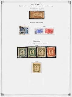 COLUMBIA issues from Scott International Cat. 1892   1940 Nice Mint