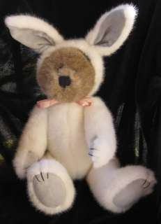 Boyds Bear Sherlock Plush Bunny Hat Grey Jointed 11