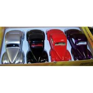 Scale Diecast Dub City 1941 Willys Coupe Box of 4 Colors: Toys & Games