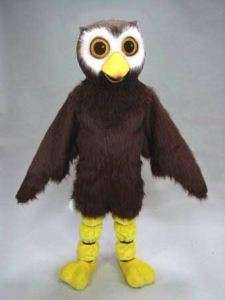 HOOT OWL bird MASCOT HEAD Costume Suit Halloween prop