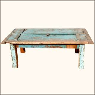 Antique Distressed Reclaimed Teak Wood Large Dining Table for 6 People