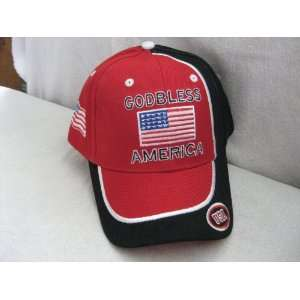 God Bless America (USA) Baseball Cap/ Hat RED, WHITE and