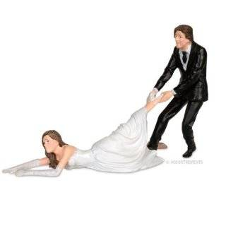 15. Accoutrements Reluctant Bride Cake Topper by Accoutrements