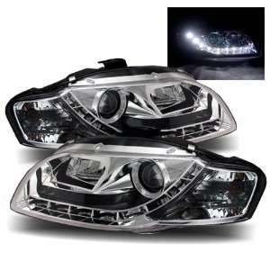 06 08 Audi A4 Chrome LED Halo Projector Headlights /w DRL (Will Wont