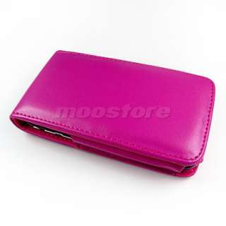 FLIP LEATHER CASE COVER +SCREEN FOR IPHONE 3G 3GS PINK