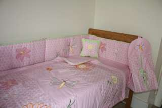 NEW pink baby girls Cotbed/Cot quilt (nusery,bedding,duvet)