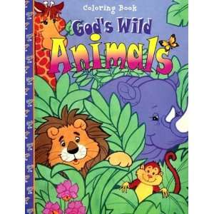 Gods Wild Animals (16 Page Coloring Books) (9780784706008