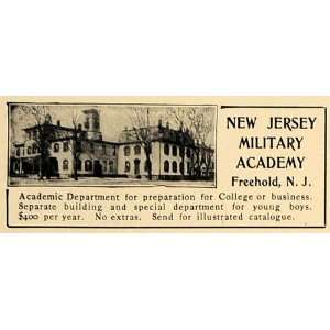 1905 Ad New Jersey Military Academy Freehold College