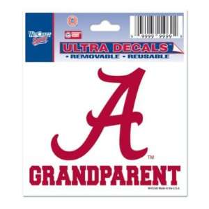 ALABAMA CRIMSON TIDE 3X4 ULTRA DECAL WINDOW CLING