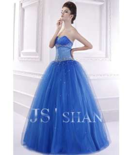 JSSHAN Royal Beading Bridal Formal Ball Long Wedding Prom Gown Evening