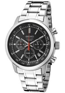 Seiko SSB037 Mens Chronograph Black Dial Stainless Steel