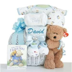 Oh Boy! Little Miracle Baby Boy Gift Basket: Baby