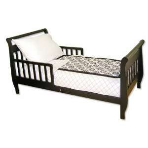 Versailles Black and White 4 Piece Toddler Bedding Set: Home & Kitchen