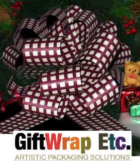 GINGHAM PULL BOWS CHRISTMAS GIFT BASKET PARTY TREE DECORATIONS