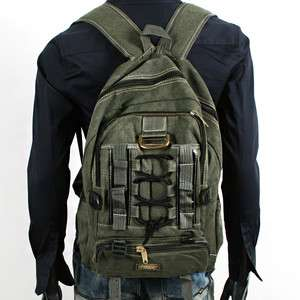 MENS VINTAGE LOOK TRAVELING OUTDOOR BACKPACK MILITARY BAG MP004