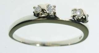 WHITE GOLD DIAMOND WEDDING ENHANCER BAND ESTATE RING J221047