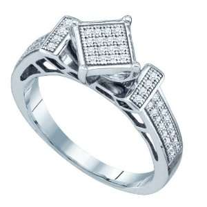 Sterling Silver 0.20 Dwt Diamond Micro Pave Set Ring