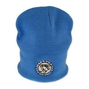 Throwback Blue NHL Pittsburgh Penguins Knit Cap Hat Embroidered Logo