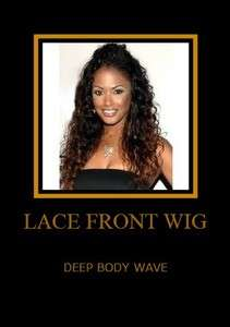 NEW LACE FRONT WIG BRAZILIAN DEEP WAVE LACE FRONT WIG + FREE EARRINGS