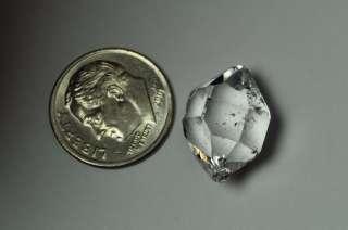 17mm Genuine Herkimer diamond (New York) quartz crystal 2.17grams 10