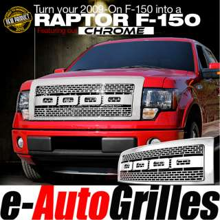09 12 Ford F 150 ABS Chrome Raptor Style Package Billet Grille Shell