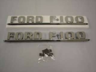1953 53 1954 54 Ford Truck Hood Side Emblems F100 F 100