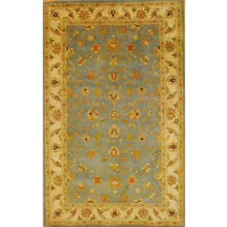 Mahal Hand tufted Light Blue/ Ivory Rug (53 x 82)
