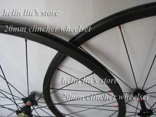 700C 20mm clincher carbon road wheels/ carbon fiber bicycle wheelset