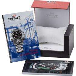 Tissot Mens PRS 200 Black Dial Black Leather Strap Watch