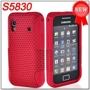 SILICONE CASE COVER + SCREEN FOR SAMSUNG S5830 GALAXY ACE RED