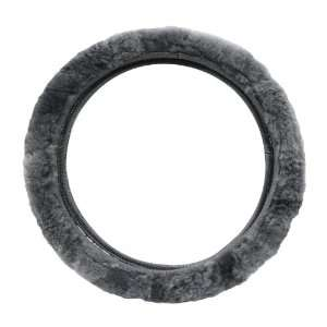 Pilot SW 245G Gray Sheep Skin Steering Wheel Cover Automotive