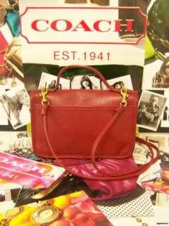 COACH Red Small Carnival Leather Bag Purse Handbag Shoulder