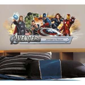 THE AVENGERS Giant Wall Stickers  CHOOSE FROM 9 STYLES Room Decor