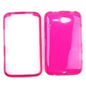 HTC Chacha / HTC Status Transparent Hot Pink Hard Case