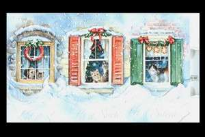 CAT CHRISTMAS CARDS LET IT SNOW