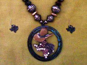 WESTERN JEWELRY COWGIRL TEXAS NECKLACE / EARRINGS