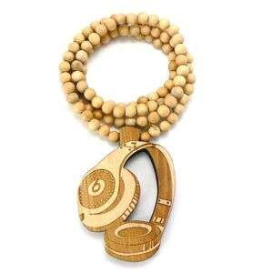 Good Quality Wood Pendant with 36 Wooden Ball Chain Necklace  WX20