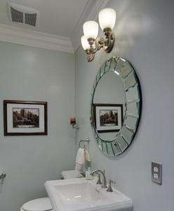 Frameless Round WALL MIRROR Beveled 34 Bathroom Mantel NEW